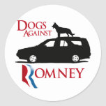 Dogs Against Romney -.png Round Sticker