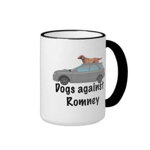 Dogs against Romney Ringer Coffee Mug