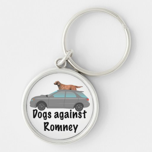 Dogs against Romney Silver-Colored Round Keychain