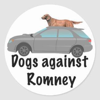 Dogs against Romney Classic Round Sticker