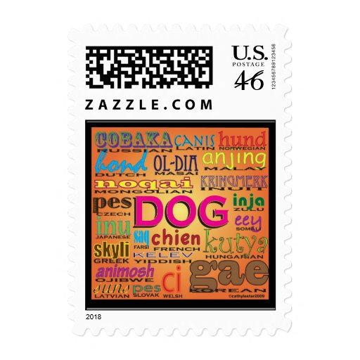Dogs all over the world postage stamp