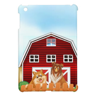 Dogs and barn cover for the iPad mini