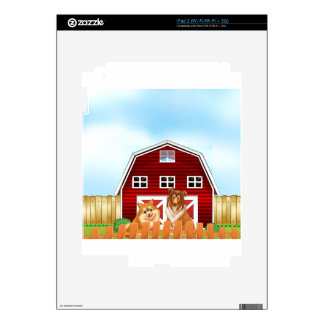 Dogs and barn skin for the iPad 2