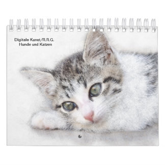 Dogs and cat-digital art calendar