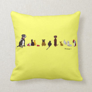 Dogs and Cats American MoJo Pillow