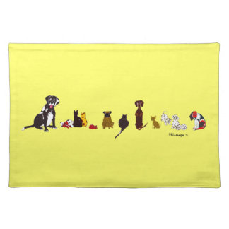 Dogs and Cats American MoJo Placemat