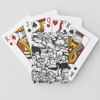 """Dogs and Cats Cartoon"""" Playing Cards"""