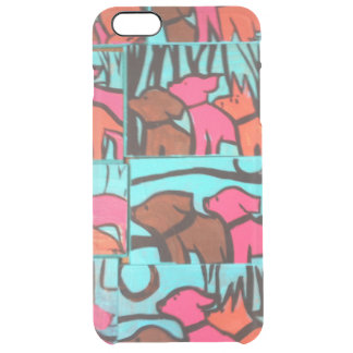 Dogs and Cats Paintings Clear iPhone 6 Plus Case