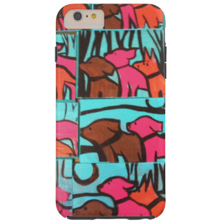 Dogs and Cats Paintings Tough iPhone 6 Plus Case