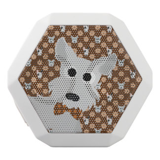 Dogs and Flowers Brown Rex Speaker White Boombot Rex Bluetooth Speaker