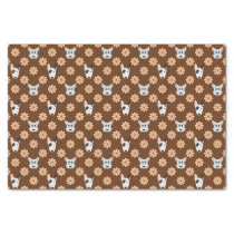 Dogs and Flowers Brown Tissue Paper