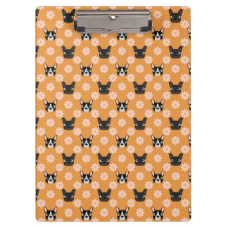 Dogs and Flowers Gold Clipboard