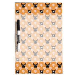 Dogs and Flowers Gold Dry-Erase Boards