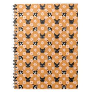 Dogs and Flowers Gold Note Books