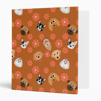 Dogs and Flowers Rust Binders