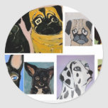 dogs and more classic round sticker