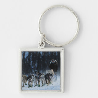 Dogs and Musher Keychain