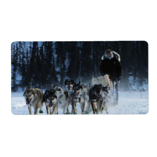 Dogs and Musher Label