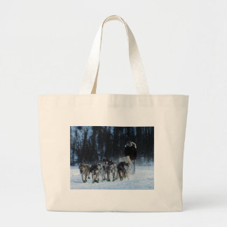 Dogs and Musher Large Tote Bag