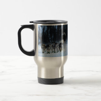 Dogs and Musher Travel Mug