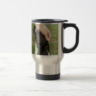 Dog's are a man's best friend! travel mug