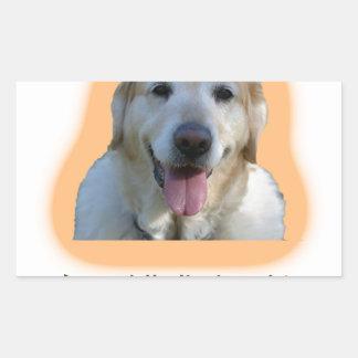 Dogs are better than human beings rectangular sticker