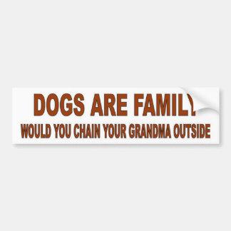 DOGS ARE FAMILY BUMPER STICKER