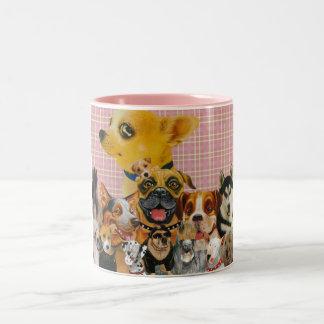 Dogs are Fun Two-Tone Coffee Mug