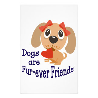 Dogs Are Fur-ever Friends Stationery