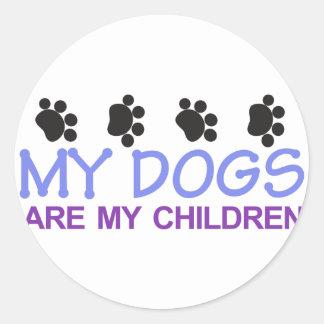 Dogs are my Children Classic Round Sticker