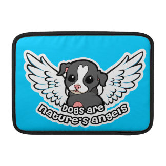 Dogs are nature's angel Staffordshire with wings Sleeves For MacBook Air