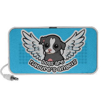 Dogs are nature's angel Staffordshire with wings PC Speakers