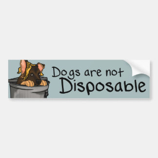 Dogs are not Disposable. Car Bumper Sticker