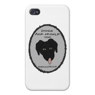 DOGS ARE PEOPLE TOO-BLACK LAB iPhone 4/4S COVERS