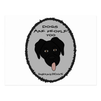 DOGS ARE PEOPLE TOO-BLACK LAB POSTCARDS