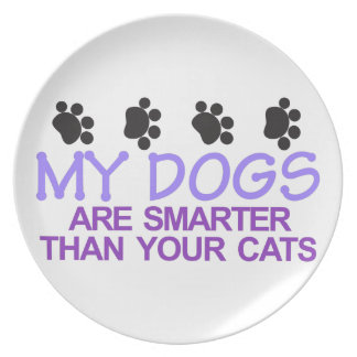 Dogs Are Smarter Melamine Plate