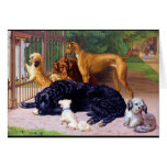 Dogs at the Gate Greeting Card