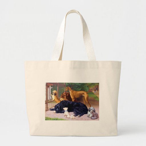 Dogs at the Gate Tote Bags