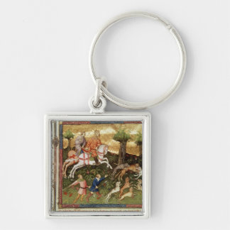 Dogs attacking a leopard, from a book keychain