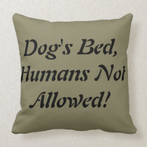 Dog's Bed Throw Pillow