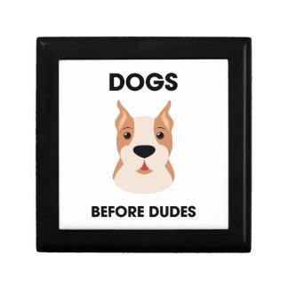 Dogs Before Dudes Keepsake Box