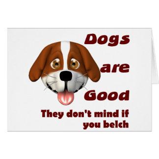 Dogs Belch Card