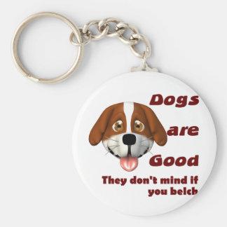 Dogs Belch Keychain