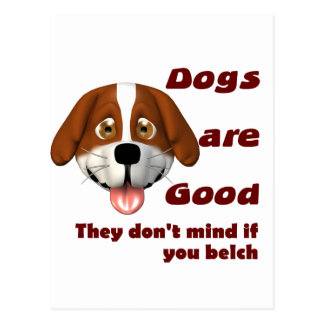 Dogs Belch Postcard