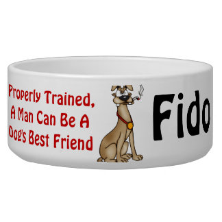 Dogs Best Friend Customized Dog Bowls