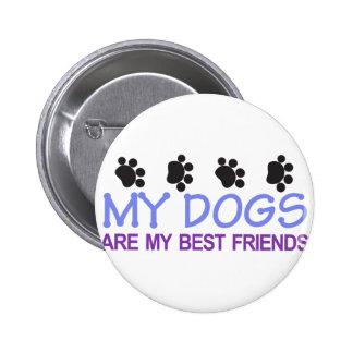 Dogs Best Friends Pinback Button