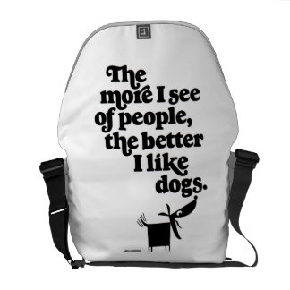 Dogs - better than people? courier bag