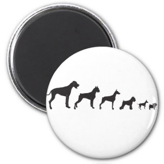 Dogs, both Big and Small 2 Inch Round Magnet