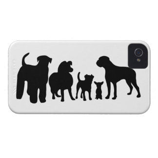 Dogs breed black silhouette blackberry bold case