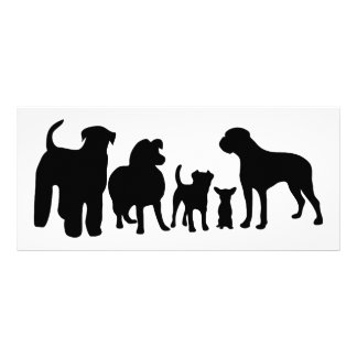 Dogs breed group black silhouette bookmark, gift rack card